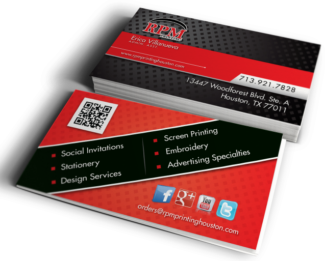 Services archive rpm printing houston for Business card printing houston